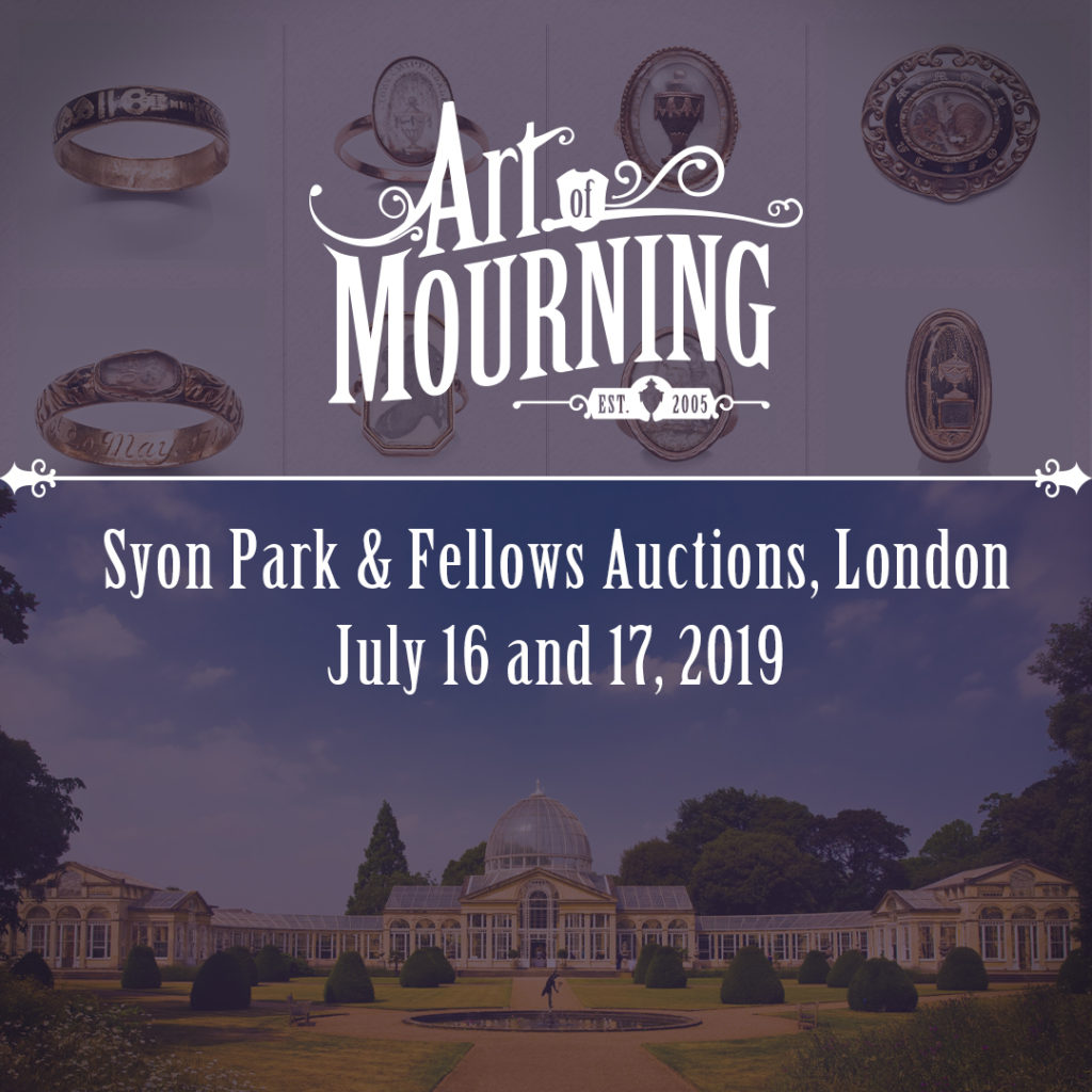 Art of Mourning Syon Park and Fellows Auctions mourning jewellery lecture, July 16 & 17, 2019